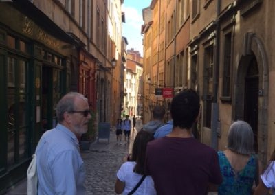 Students from Alliance Française de Bristol discovering the streets of Lyon