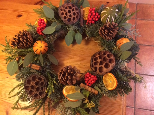 Create your own Christmas Wreath with our French Florist
