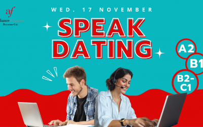 """Practise your French in our free """"Speak Dating"""" event 17-11-2021"""